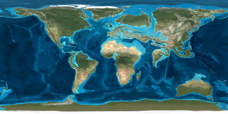 Earth evolves bldgblog images the earth from roughly 150 million years ago to 50 million years ago mapped by ron blakey publicscrutiny Choice Image