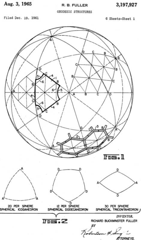 Patent Drawings for Geodesic Structures – BLDGBLOG