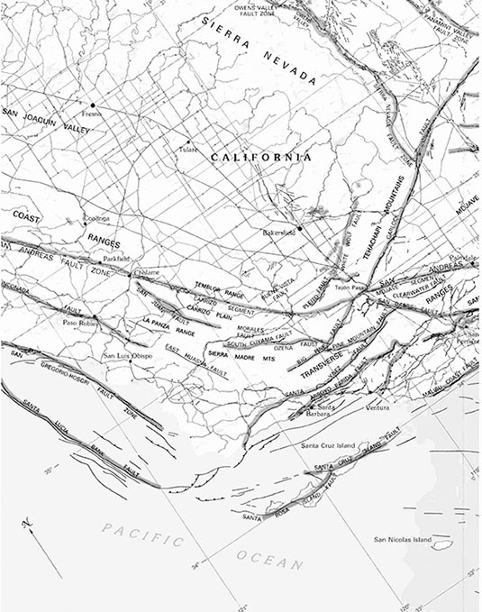 Image Map Courtesy Of The U S Geological Survey From The San Andreas Fault System U S G S Professional Paper 1515 Pdf
