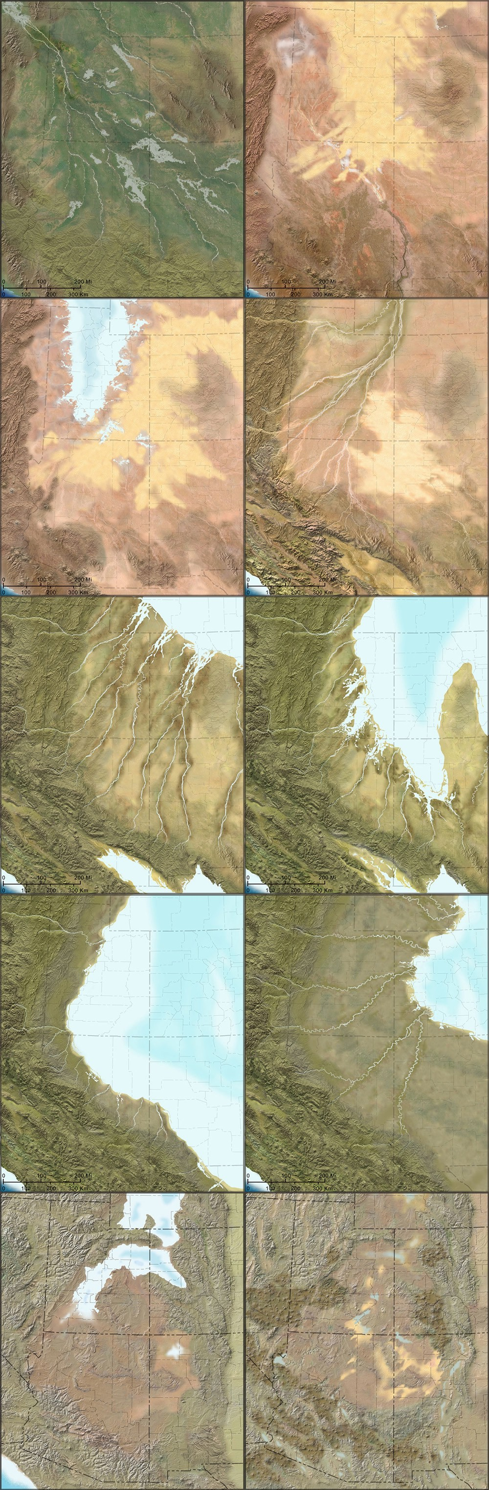 Colorado Plateau  BLDGBLOG - Map of colorado plateau region